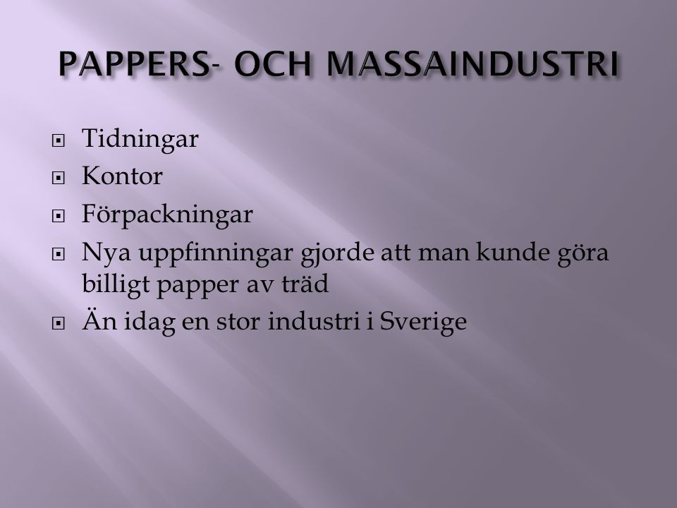 Pappers- och massaindustri