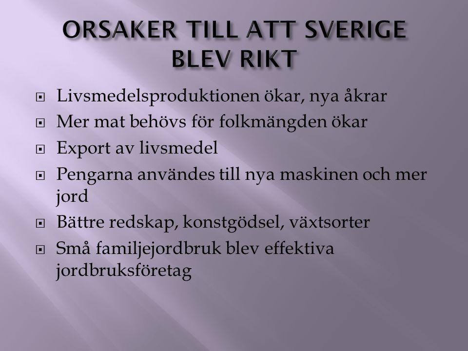 Orsaker till att Sverige blev rikt