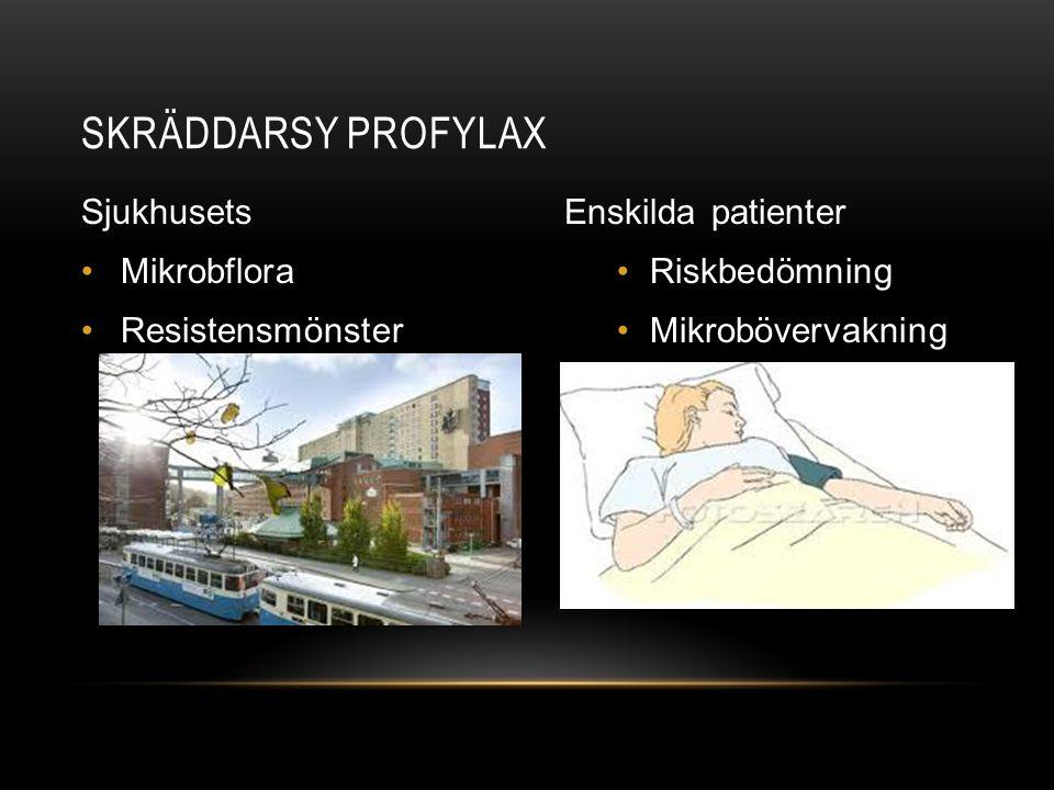 Skräddarsy profylax Sjukhusets Mikrobflora Resistensmönster