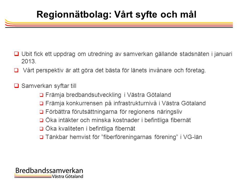 Regionnätbolag: Vårt syfte och mål