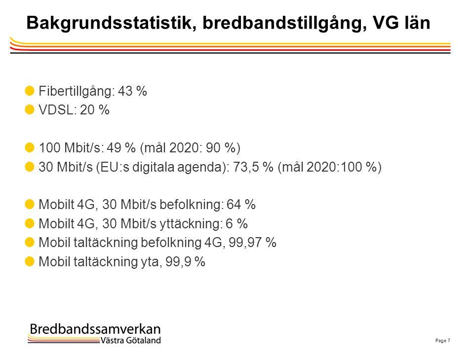 Bakgrundsstatistik, bredbandstillgång, VG län