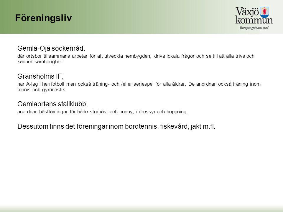 Föreningsliv Gemla-Öja sockenråd, Gransholms IF,