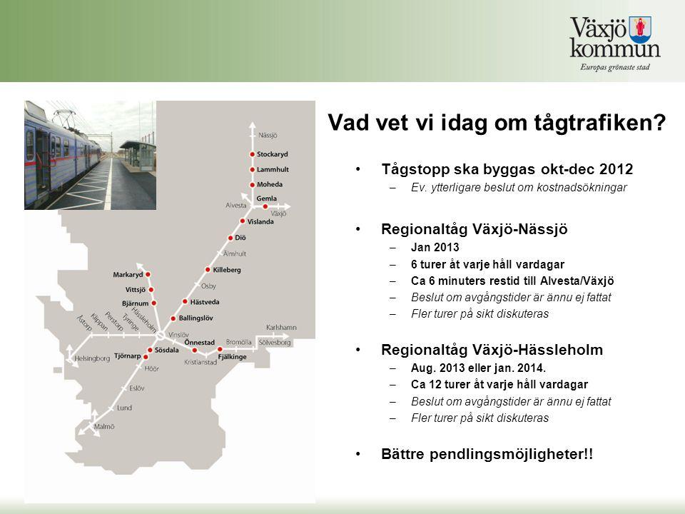 Vad vet vi idag om tågtrafiken