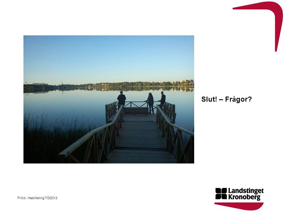 Slut! – Frågor Fritid - Habilitering TÖ/2013