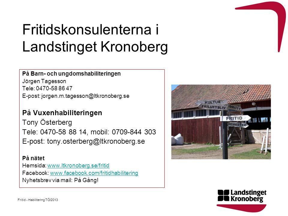 Fritidskonsulenterna i Landstinget Kronoberg