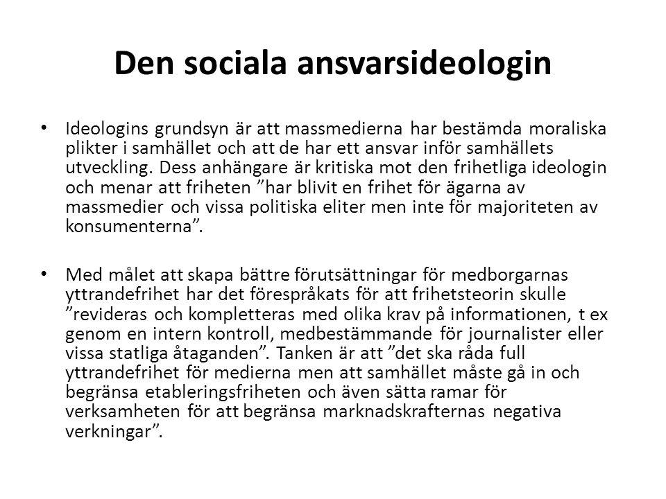 Den sociala ansvarsideologin