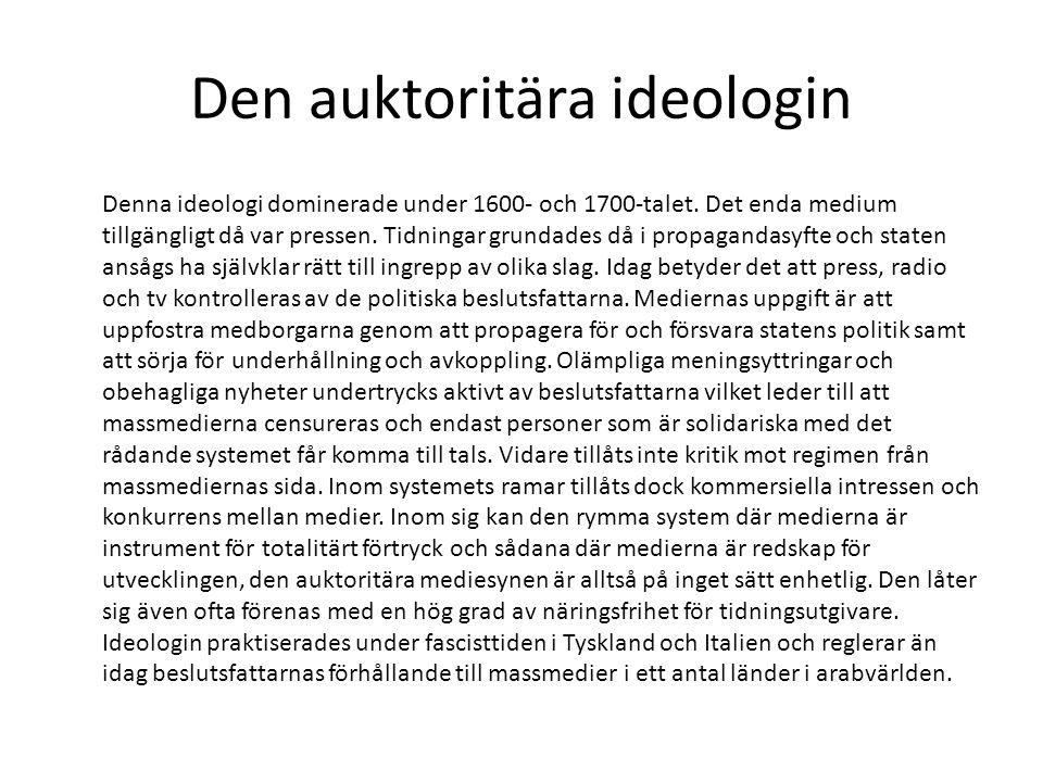 Den auktoritära ideologin
