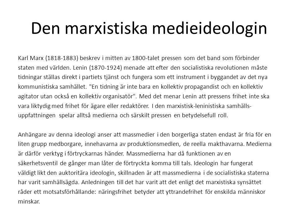 Den marxistiska medieideologin