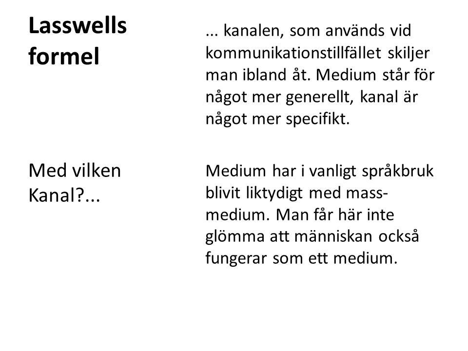 Lasswells formel
