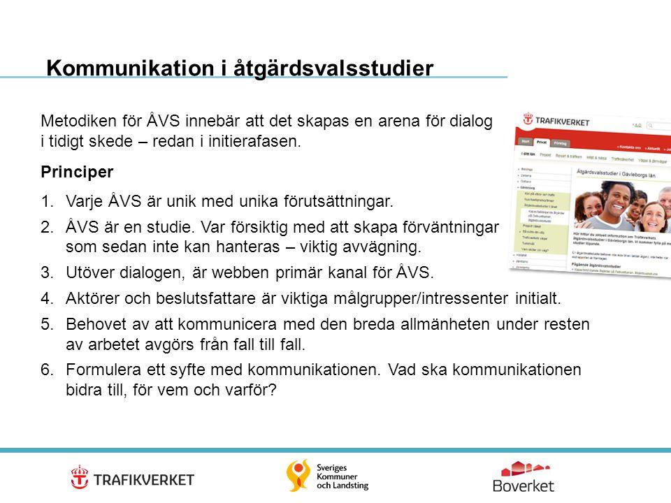 Kommunikation i åtgärdsvalsstudier