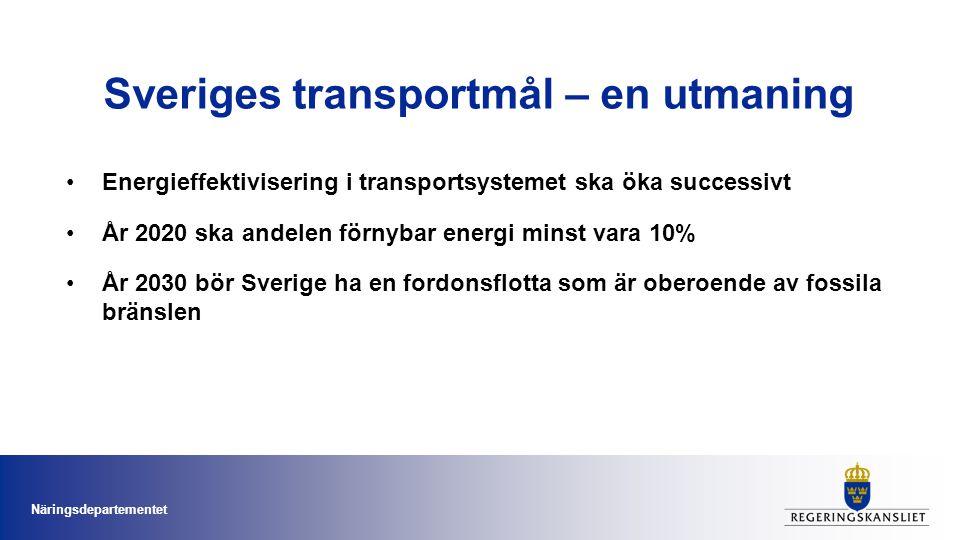 Sveriges transportmål – en utmaning