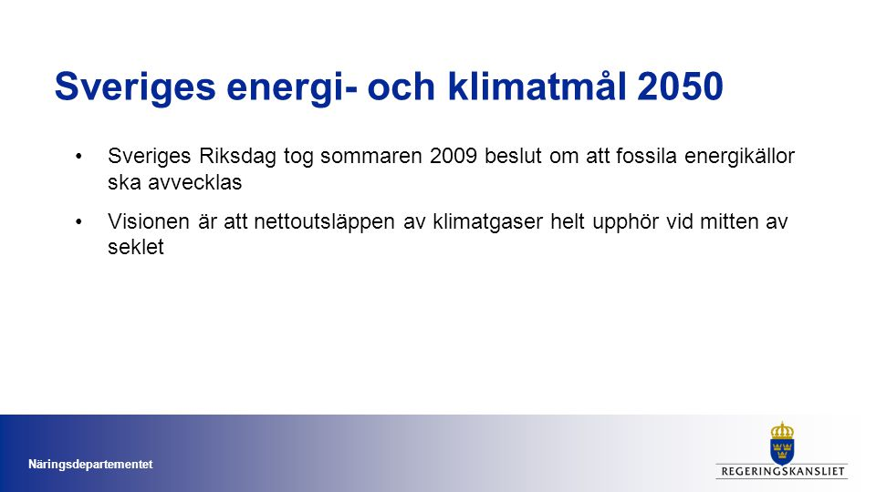 Sveriges energi- och klimatmål 2050