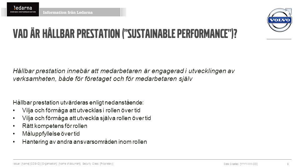 Vad är Hållbar prestation ( Sustainable Performance )