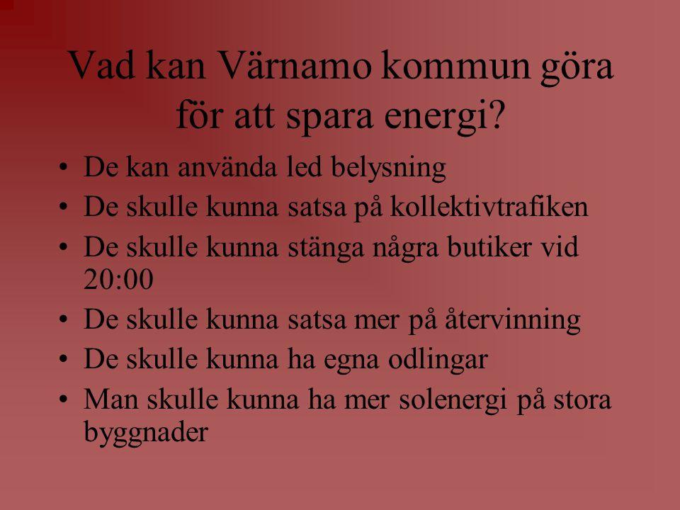 Vad kan Värnamo kommun göra för att spara energi