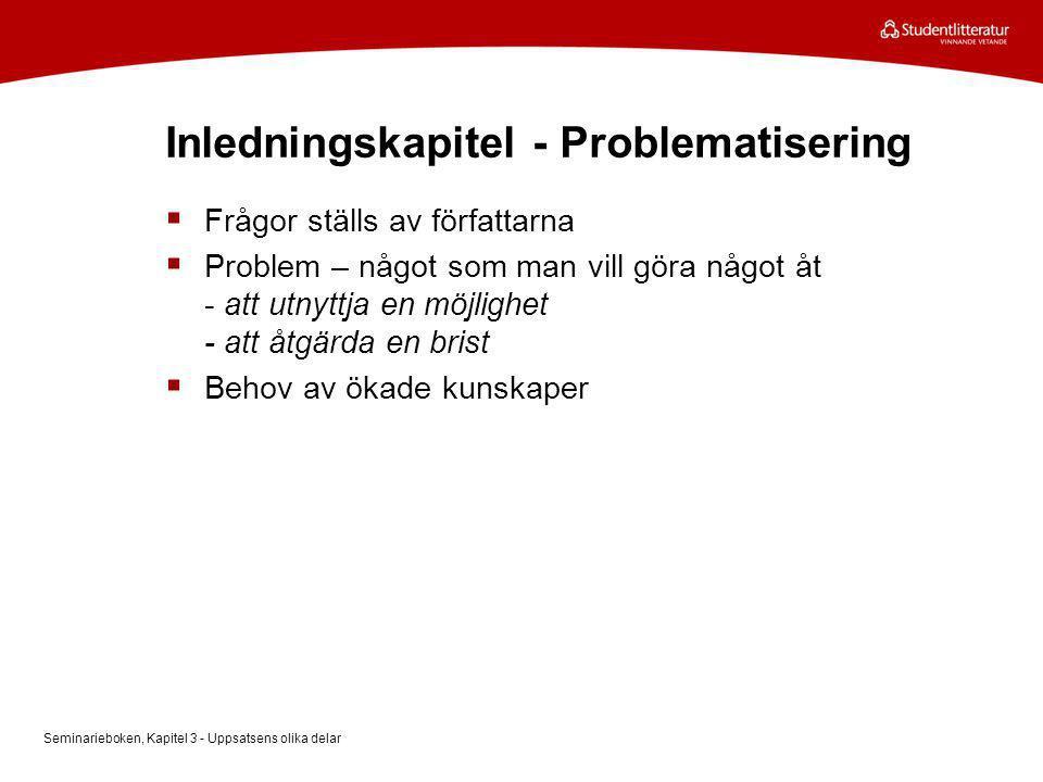 Inledningskapitel - Problematisering