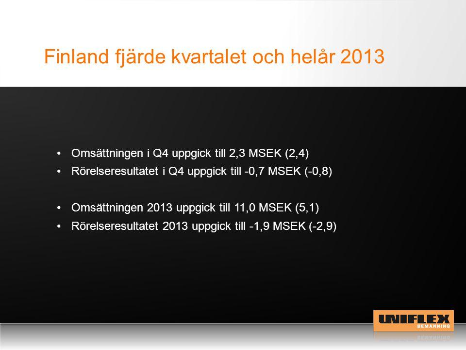 Finland fjärde kvartalet och helår 2013