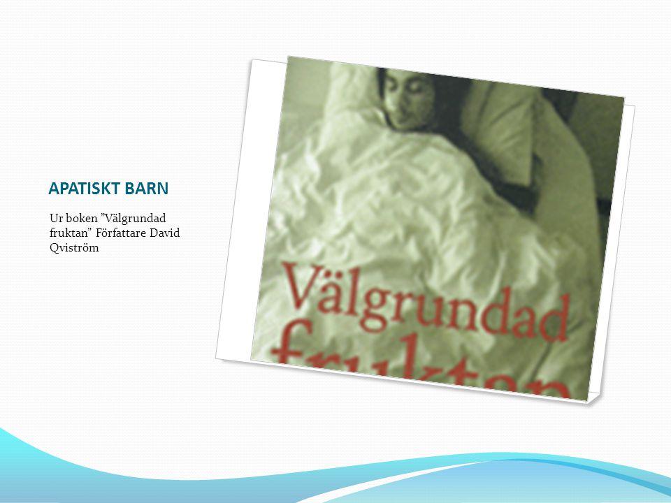 APATISKT BARN Ur boken Välgrundad fruktan Författare David Qviström