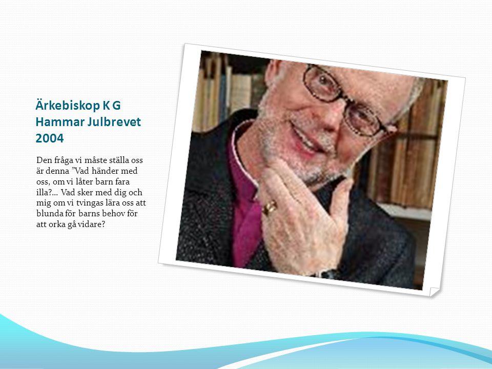 Ärkebiskop K G Hammar Julbrevet 2004
