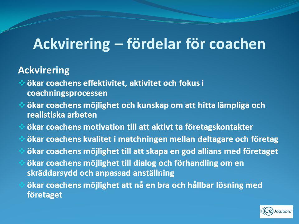 Ackvirering – fördelar för coachen