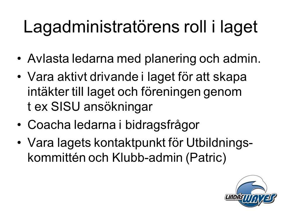 Lagadministratörens roll i laget