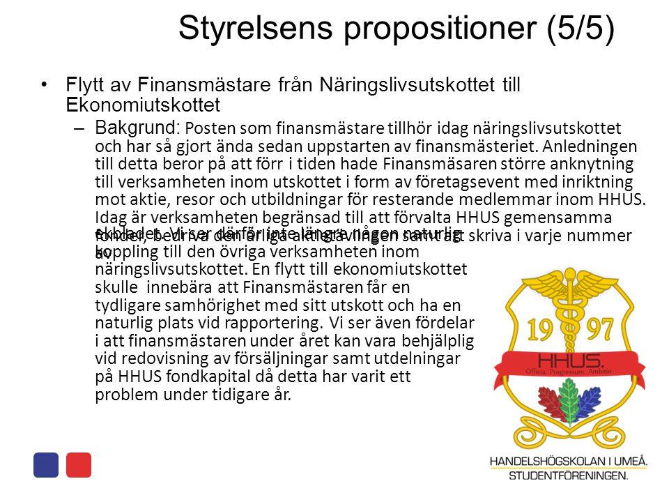 Styrelsens propositioner (5/5)