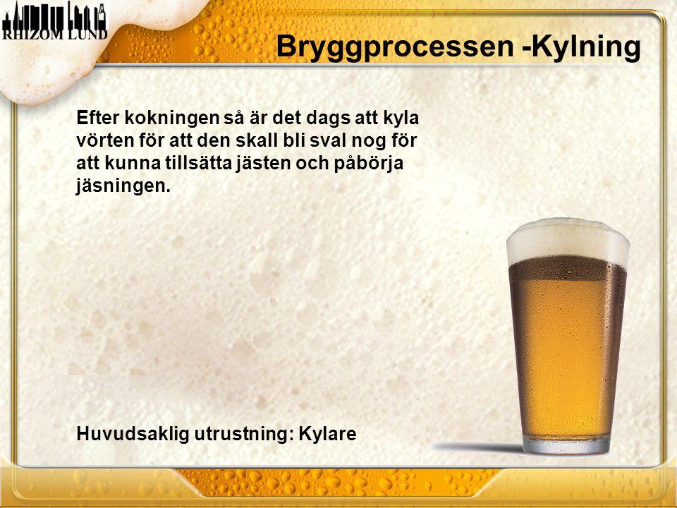 Bryggprocessen -Kylning