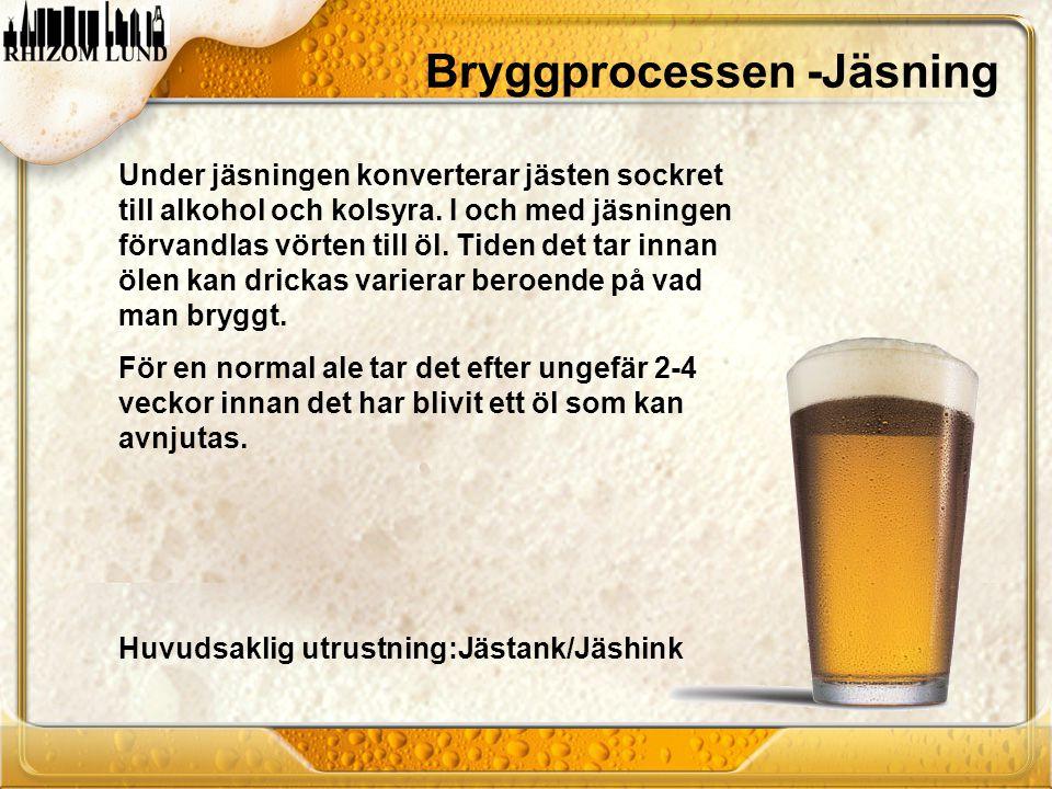 Bryggprocessen -Jäsning