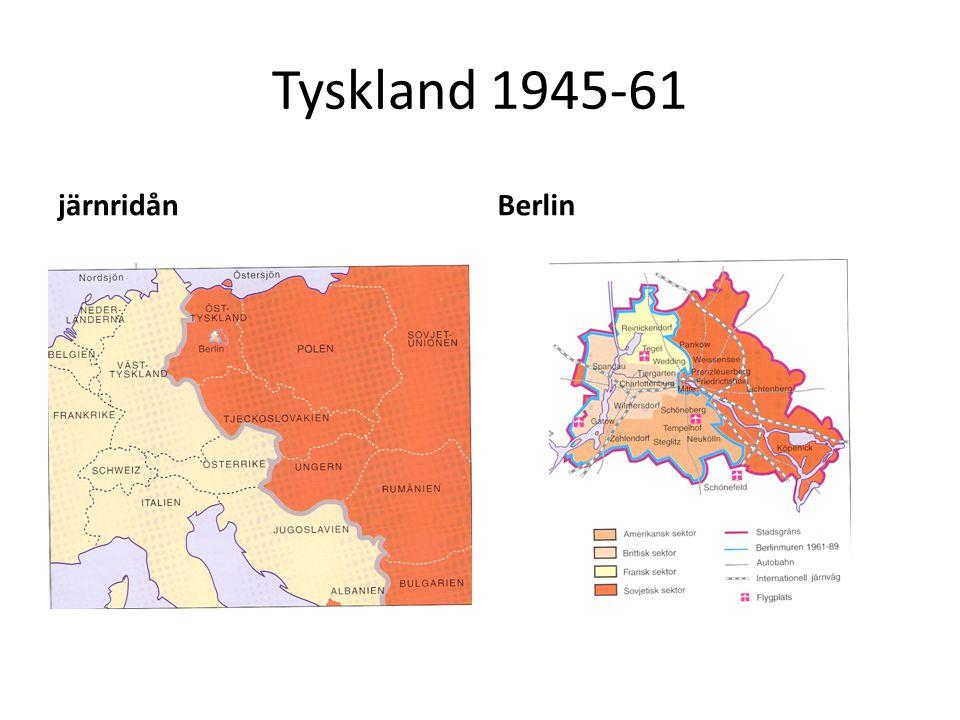 Tyskland 1945-61 järnridån Berlin