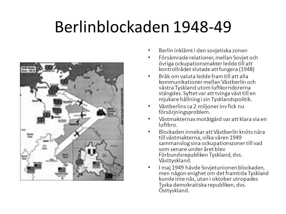 Berlinblockaden 1948-49 Berlin inklämt i den sovjetiska zonen