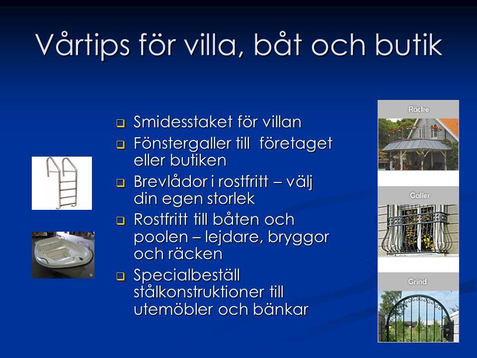 Vårtips för villa, båt och butik
