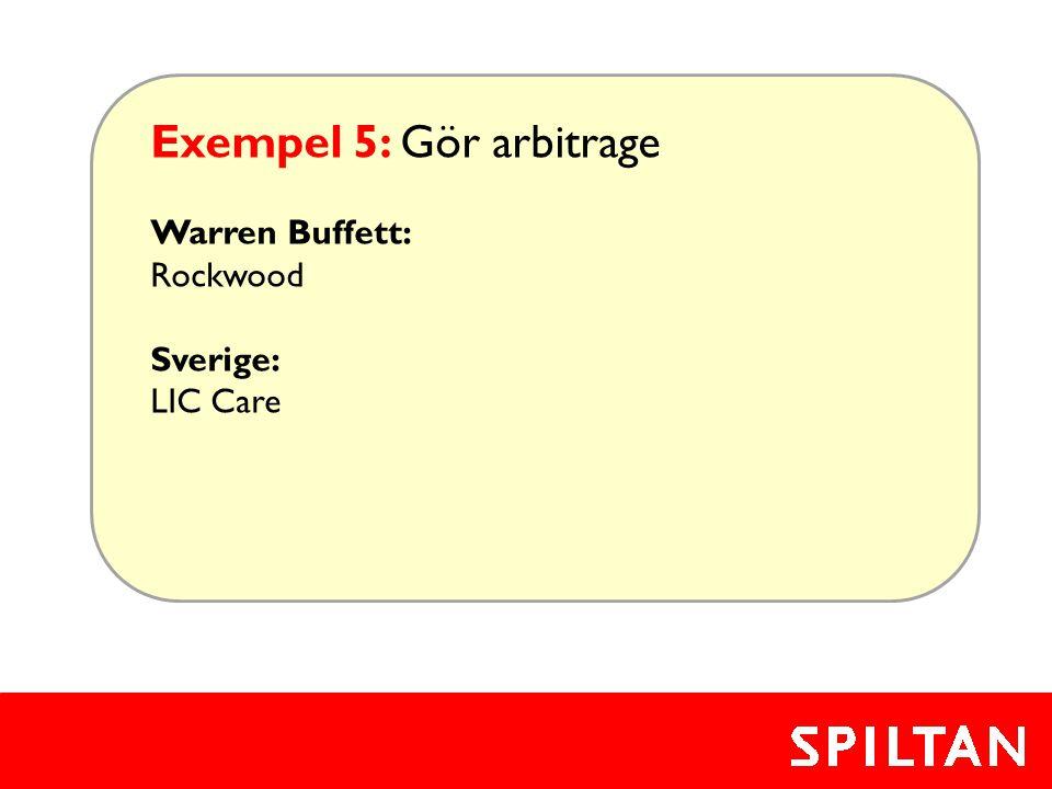Exempel 5: Gör arbitrage
