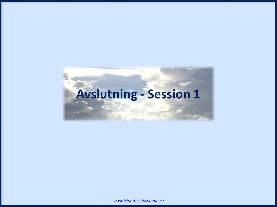 Avslutning - Session 1