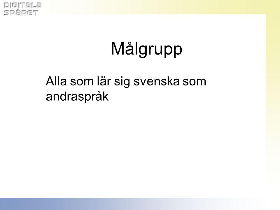 Alla som lär sig svenska som andraspråk