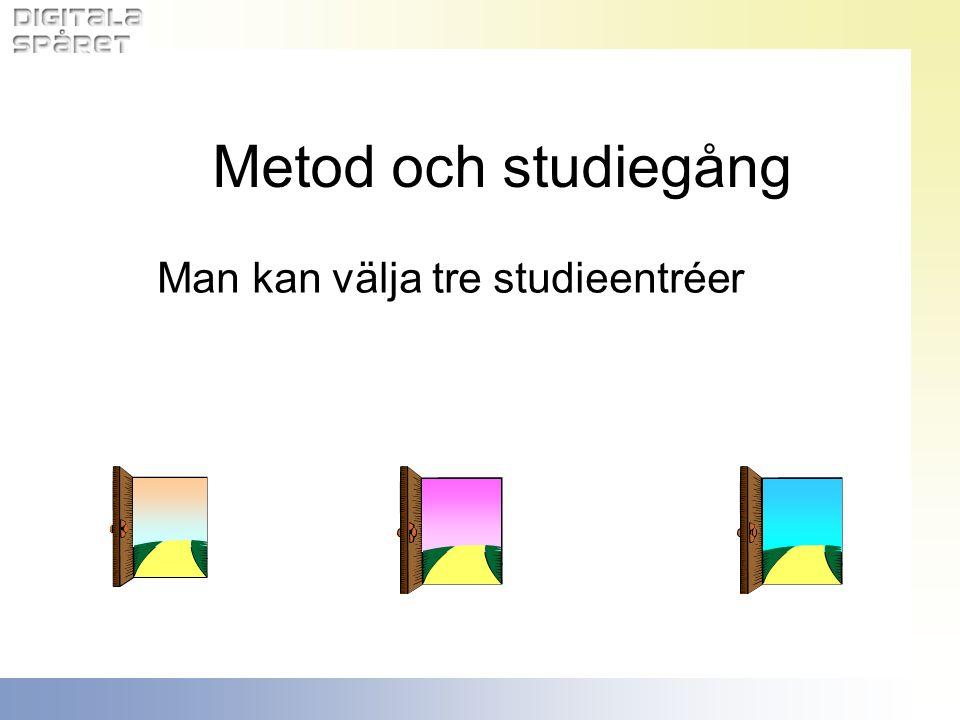 Man kan välja tre studieentréer