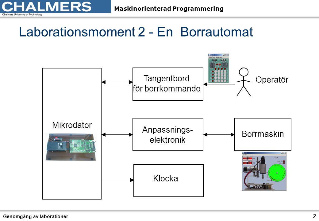 Laborationsmoment 2 - En Borrautomat