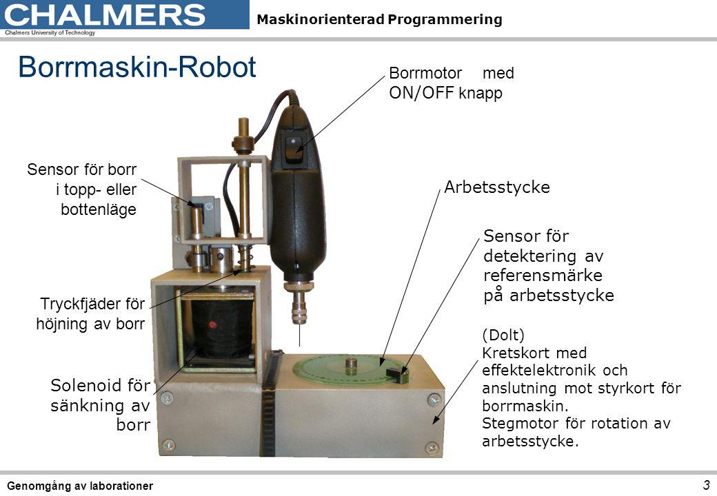 Borrmaskin-Robot Borrmotor med ON/OFF knapp Sensor för borr
