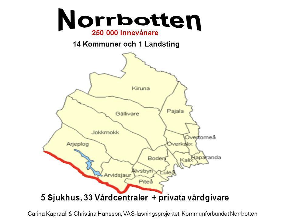 14 Kommuner och 1 Landsting