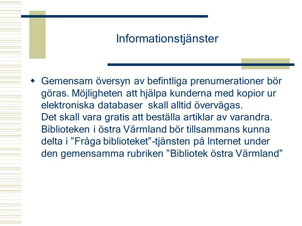 Informationstjänster