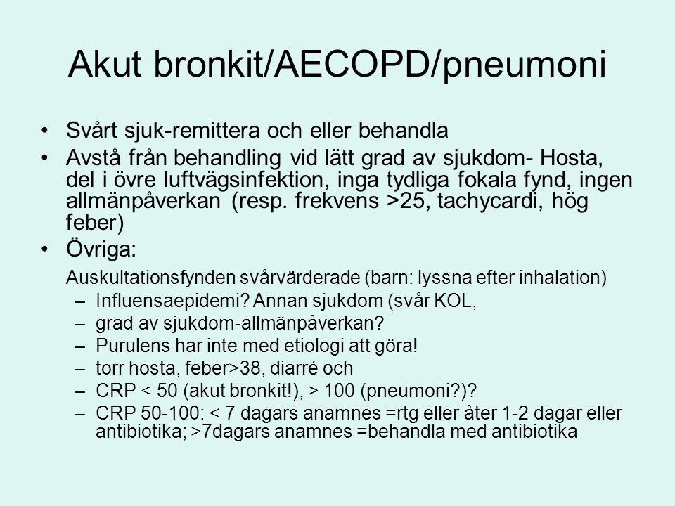 Akut bronkit/AECOPD/pneumoni