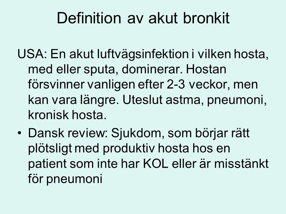 Definition av akut bronkit