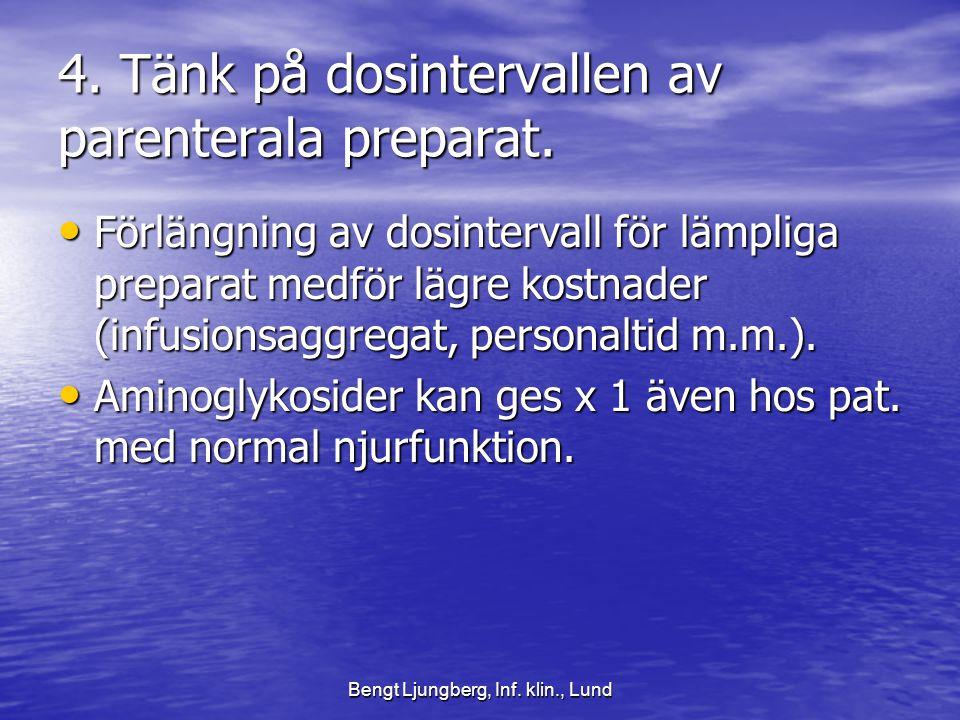 4. Tänk på dosintervallen av parenterala preparat.