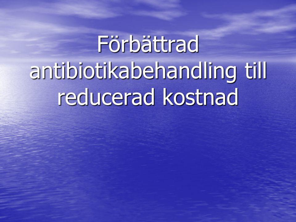 Förbättrad antibiotikabehandling till reducerad kostnad