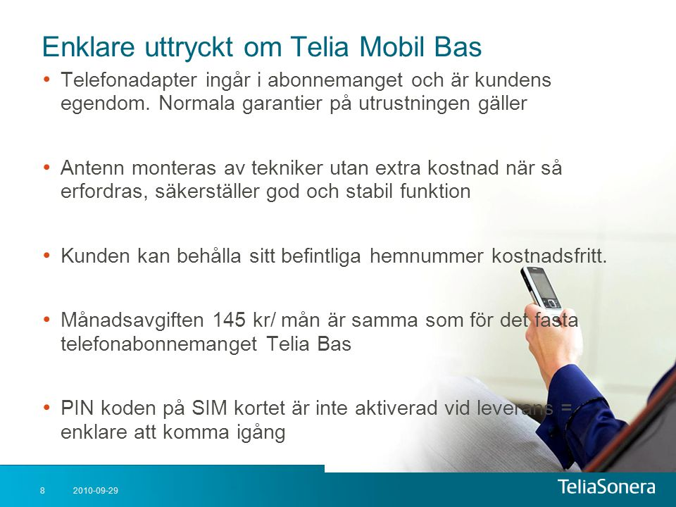 Enklare uttryckt om Telia Mobil Bas
