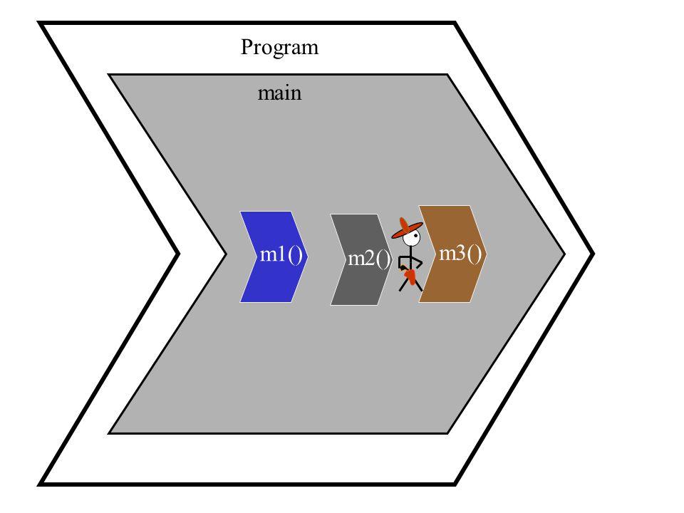Program main m1() m3() m2()