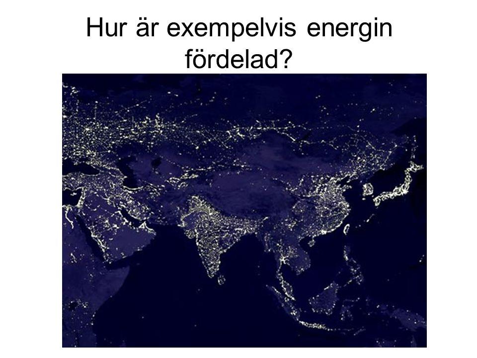 Hur är exempelvis energin fördelad
