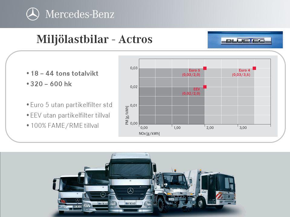 Miljölastbilar - Actros