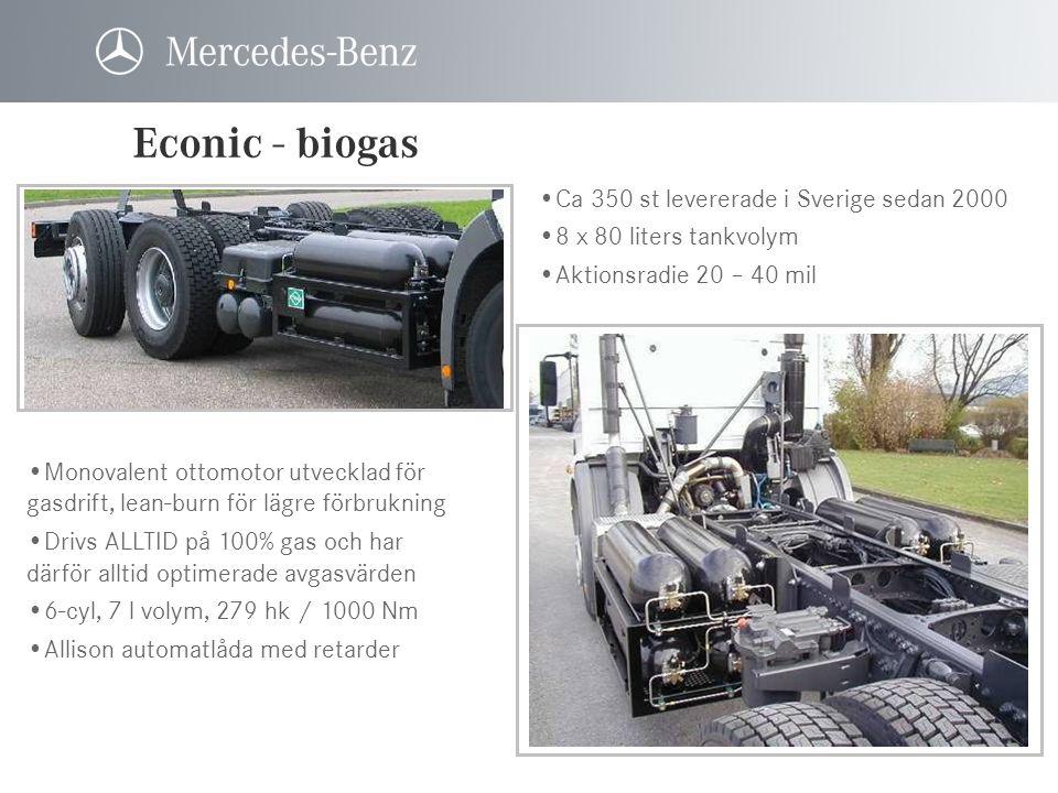 Econic - biogas Ca 350 st levererade i Sverige sedan 2000