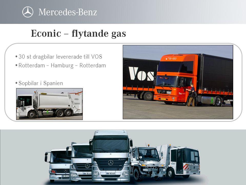 Econic – flytande gas 30 st dragbilar levererade till VOS