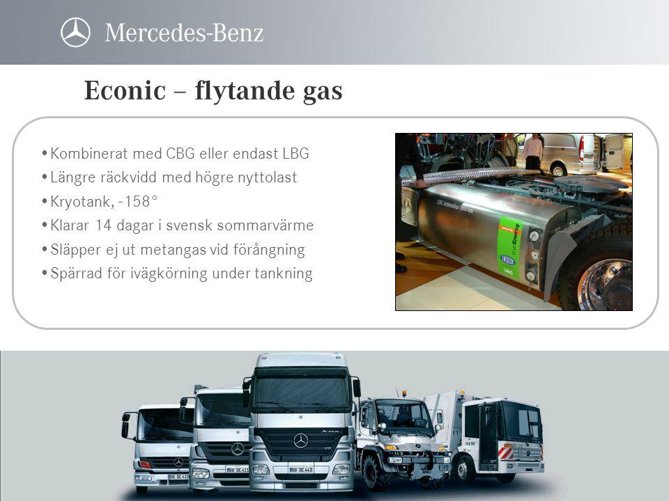 Econic – flytande gas Kombinerat med CBG eller endast LBG