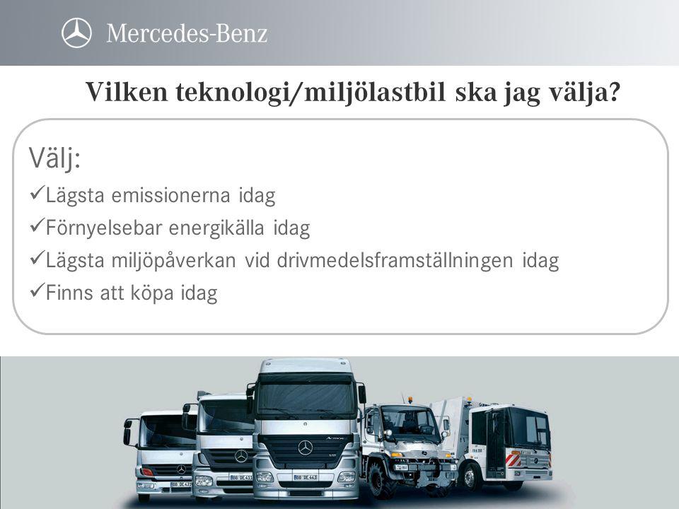 Vilken teknologi/miljölastbil ska jag välja